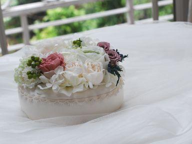 ring pillow flower プリザーブドフラワー&アートフラワーのリングピロー http://www.vingtquatre.com