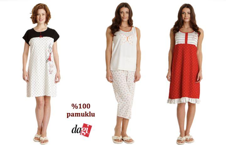 Dagi'nin %100 pamuklu kumaştan üretilen ve antiallerjik olan gecelik ve pijamaları şimdi indirimli fiyatlarıyla #BeylikduzuMigrosAVM'de sizi bekliyor!