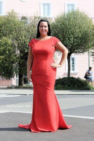 Červené plesové šaty - dlouhé šaty - maturitní šaty www.svatebninella.cz  red dress 0b2da64a63