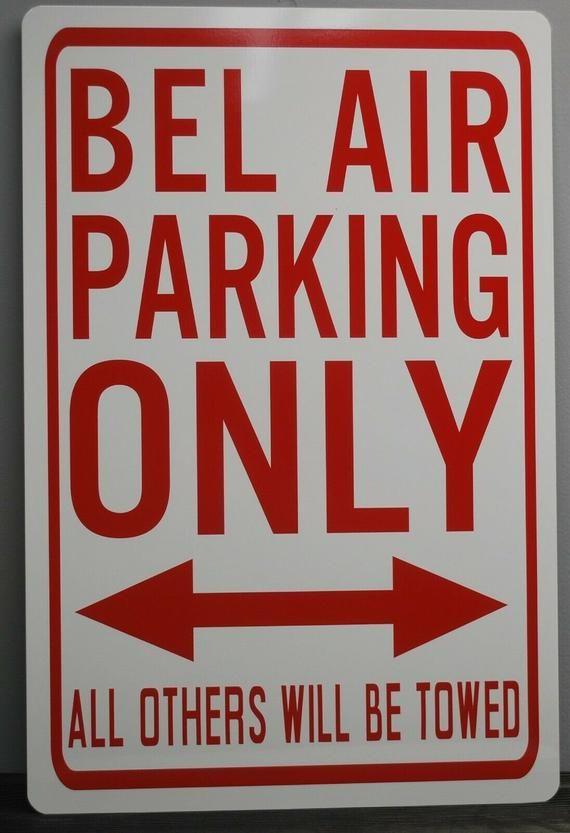 Bel Air Parking Only Metal Street Sign 12x18 Belair Chevy