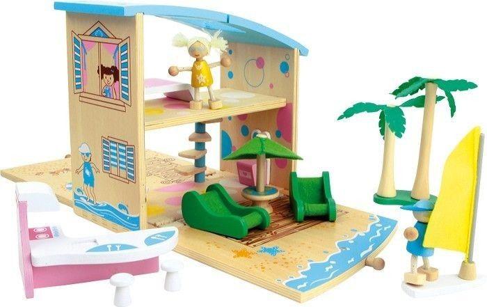 """CASA MALETÍN DE MADERA """"CASA DE VACACIONES"""" Este colorido maletín de madera laminada es una casa de muñecos. Es muy fácil de montar, así los muñecos pueden jugar en las dos plantas de la casa y disfrutar de sus vacaciones en la playa. Contiene muchos accesorios, además de una práctica asa para llevar. Recomendado para más de 3 años PVP: 43,90 € #casitasdemadera #casitasdemuñecas  http://www.babycaprichos.com/maletin-de-madera-casa-de-vacaciones.html"""