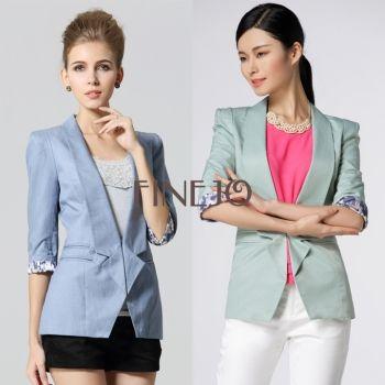 Women's Slim Jacket Suit Blazer FINEJO