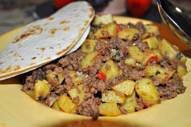 Mexican Picadillo-I use olive oil instead of canola & I also omit the tomatoes & use 1/2 cup tomato sauce. This is so good wrapped in a warm tortilla with fresh pico de gallo. I start with the oil, onion, bell pepper and garlic in a pan to soften then add my meat and seasonings. Once cooked I add tomato sauce, broth and potatoes, cover and cook till potatoes are soft and liquid is absorbed. If you need this quick, pop potatoes in microwave quick to soften a little before dicing & adding to…