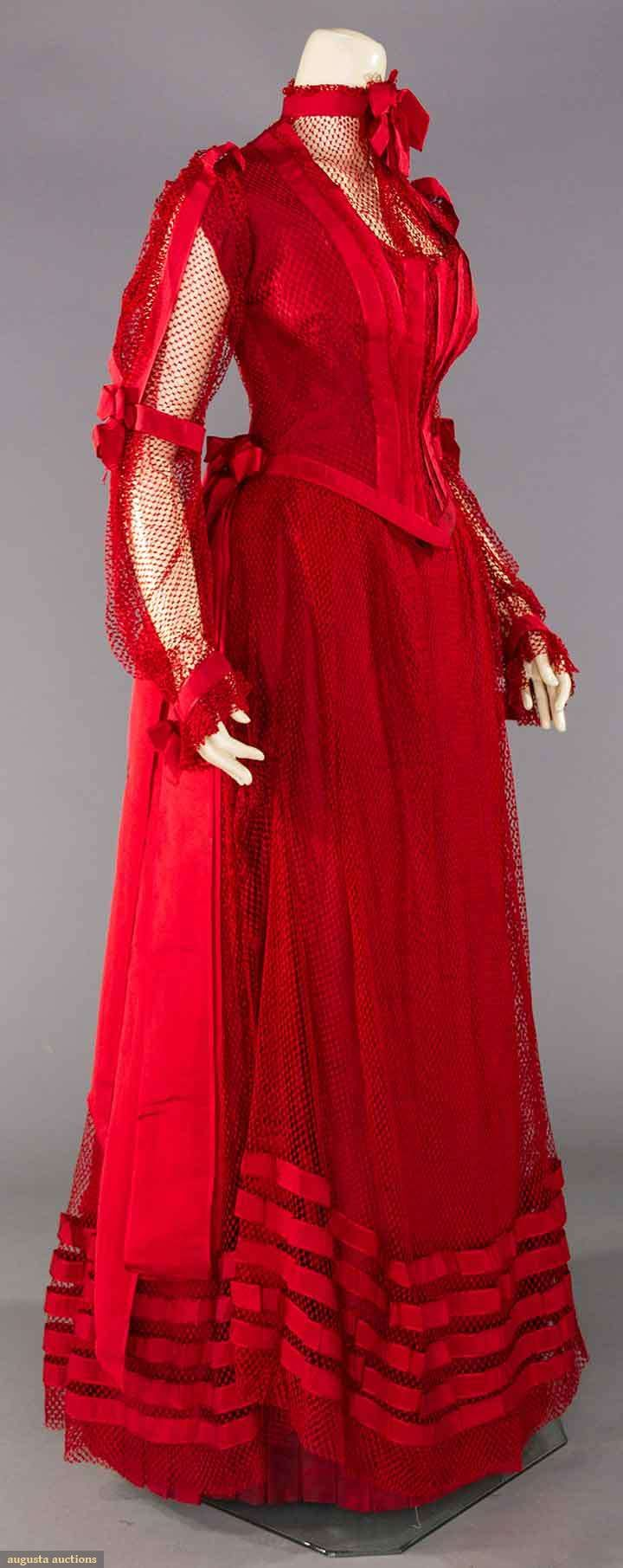 Scarlett PARTY GOWN, PITTSBURG, PA. c. 1890