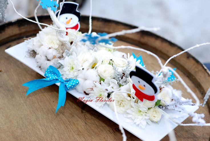 Frosty the snowman centerpiece