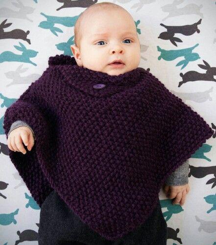 Poncho tejido para bebe!! | tejidos | Pinterest