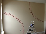 A great idea for a baseball inspired room