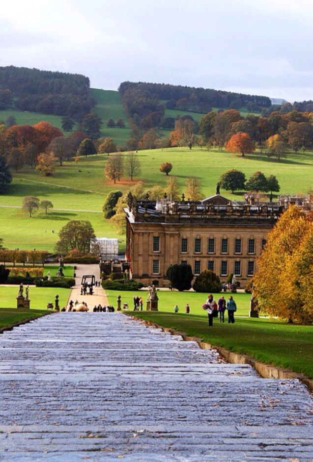 Chatsworth House (Pemberley), Derbyshire, England