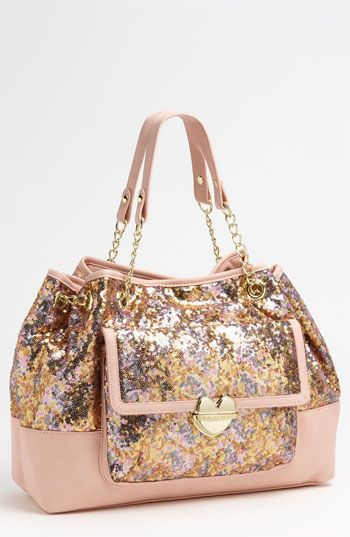 Betsey Johnson Multi Sequin Tote available at #Nordstrom Hoping to talk Carson into letting me get this for my diaper bag!!!!!!