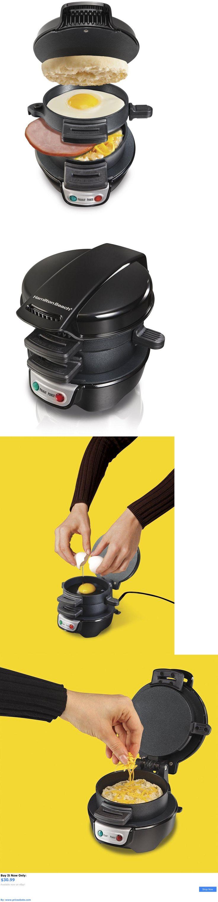 appliances: Hamilton Beach 25490 Black Dual Breakfast Sandwich Maker New BUY IT NOW ONLY: $30.99 #priceabateappliances OR #priceabate