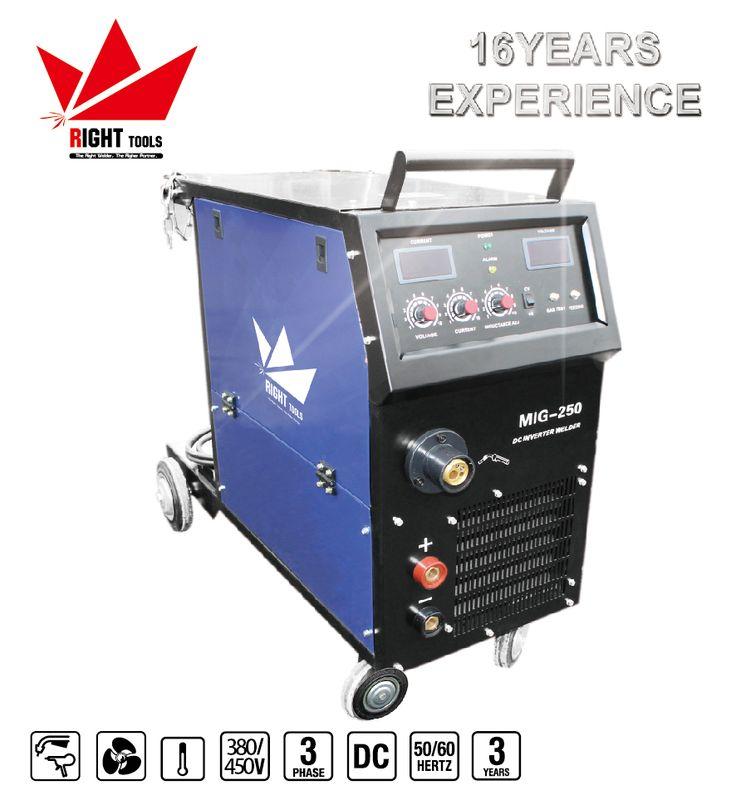 Soldadora mig-250 inverter welding aluminum mig co2 welding machine