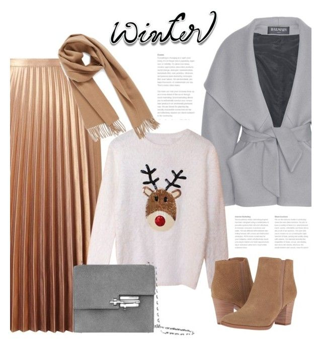 """""""Sweater Weather"""" by bliznec ❤ liked on Polyvore featuring Balmain, Miss Selfridge, Franco Sarto, Nordstrom, Winter, polyvoreeditorial, polyvorecontest and wintersweater"""