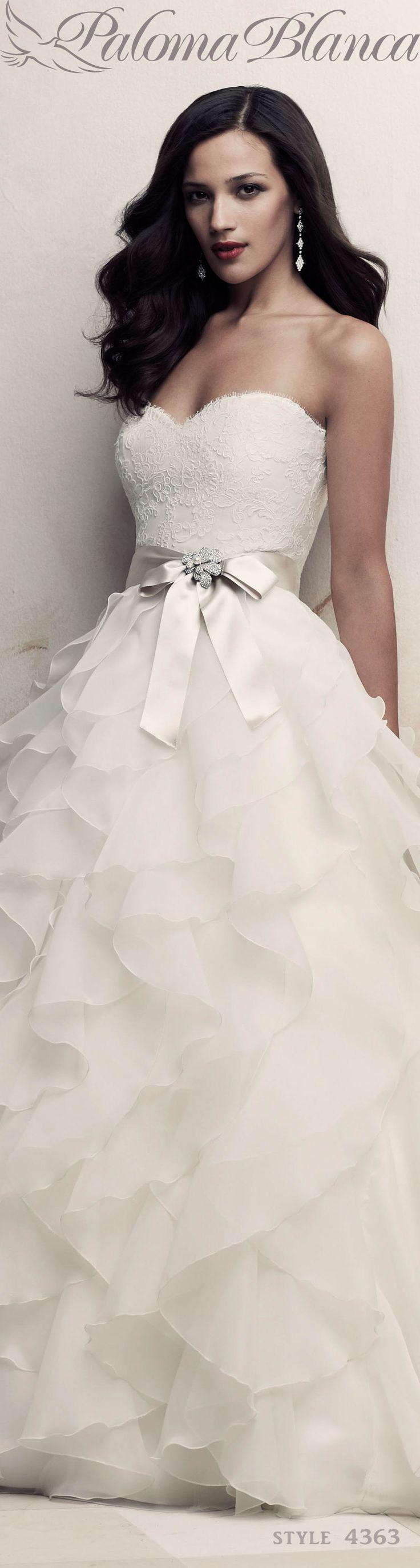 Romantic Ruffled Wedding Dress - Style #4363