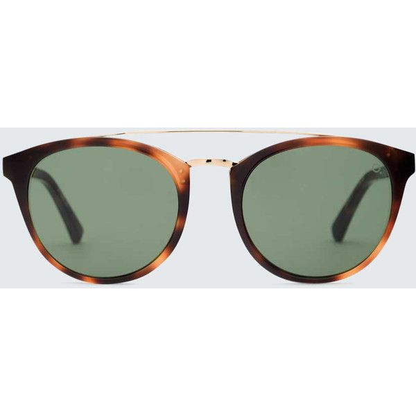 Etnia Barcelona Ferlandina Sunglasses ($265) ❤ liked on Polyvore featuring accessories, eyewear, sunglasses, havana green, uv protection glasses, uv protection sunglasses, green lens glasses, thin glasses and green glasses