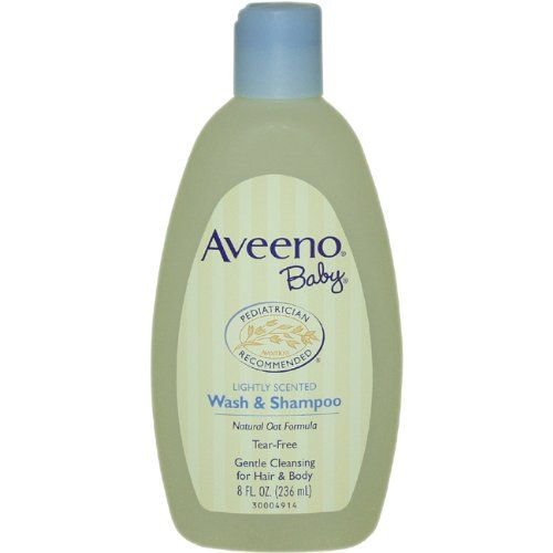 Aveeno Baby Wash  Shampoo, Lightly Scented, 8 Ounce (Pack of 2)