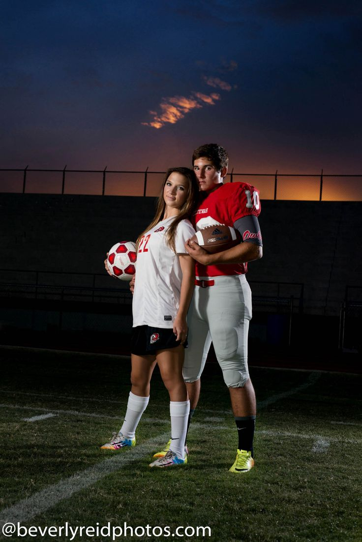 I wish this was me, but while I am a soccer player, there aren't any football players who would like me.