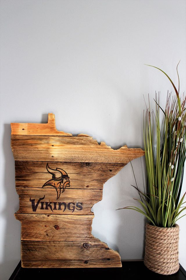 Good Minnesota Vikings State Cut Out Sign Are You True Vikes Fan? This Vikings  Gear For