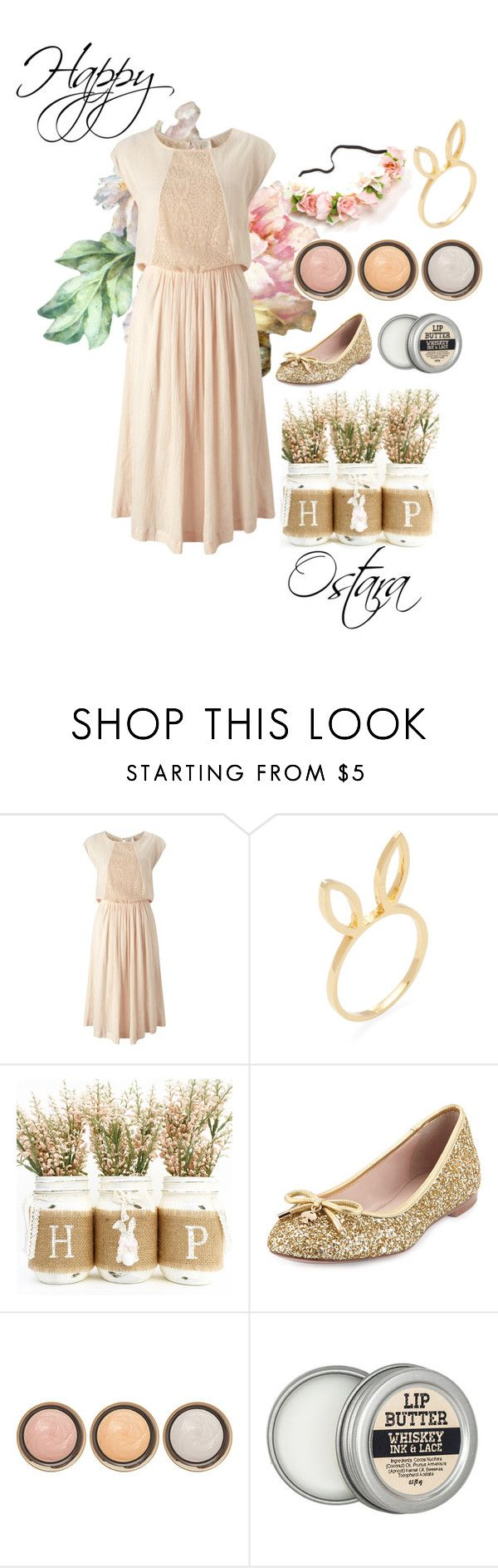 """""""Happy Ostara"""" by glitteringbeast ❤ liked on Polyvore featuring Des Petits Hauts, Jacquie Aiche, Kate Spade, By Terry, Spring, Easter, pagan, witch and Ostara"""