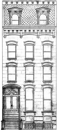 brownstone drawing by jabarig, via Flickr