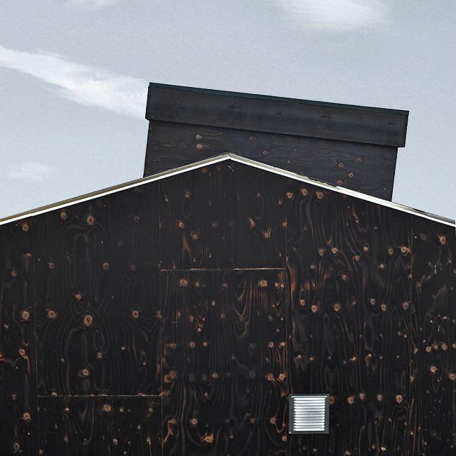 Ask Anker Aistrup - Own House - Burned plywood - Tilted skylight