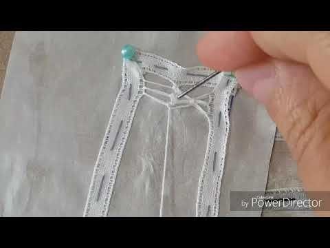Artesanato RENDA Renascença passo a passo como fazer o ponto sianinha com dois laços-DIY - YouTube