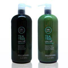 Paul Mitchell Tea Tree Shampoo & Conditioner (33.8 oz) Liter