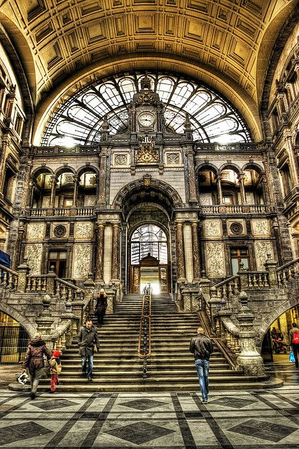 Antwerp, Belgium - Inside Central Station #Europe
