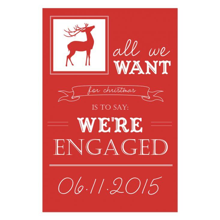 NIEN // Typografische verlovingskaart voor de kerst