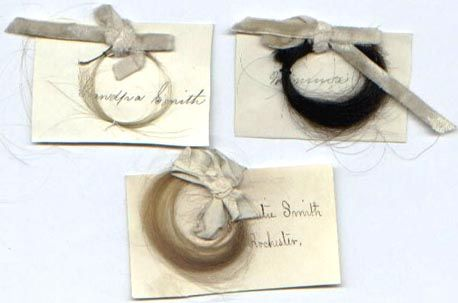 During the Victorian Period, the hair receiver was commonly found on a woman's vanity. After brushing her hair, she would remove the hair from the brush and place it through the opening of the receiver for storage. Once enough hair had accumulated, it could be used to construct rats, or could be woven or plaited and put into lockets, left visible through cut-glass windows of a brooch or even made into watch chains, bracelets or jewelry. Hair receivers were usually made from ceramic, bronze…