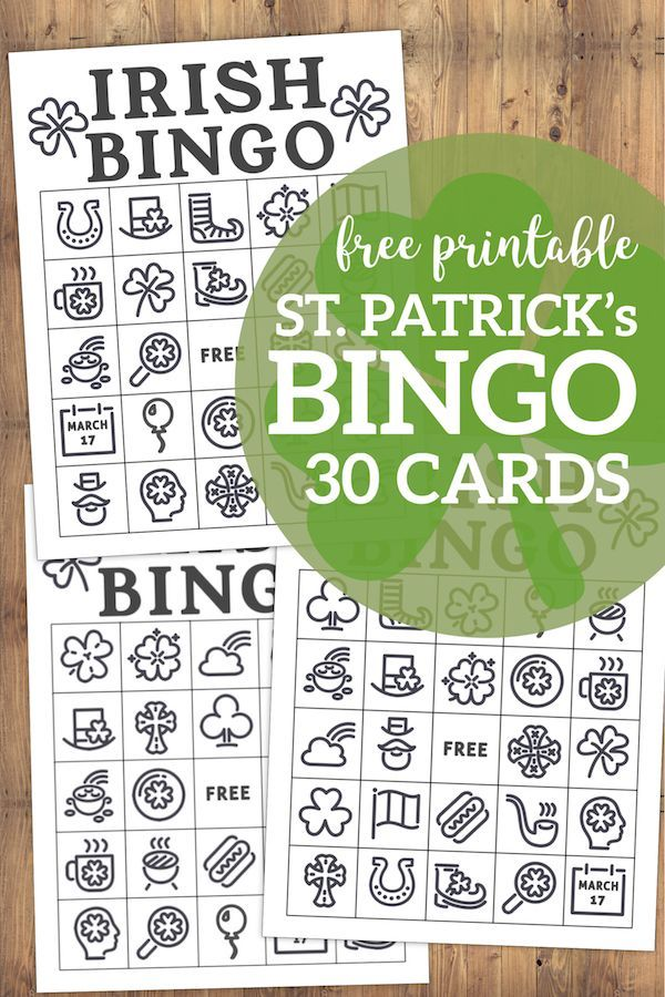 graphic regarding St Patrick's Day Bingo Printable identified as Free of charge Printable St. Patricks Working day Bingo Playing cards No cost
