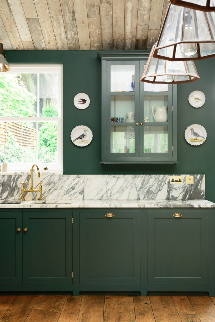 I Love The Pop Of Color In This Devol Kitchen A Perfect Combination Of Vintage