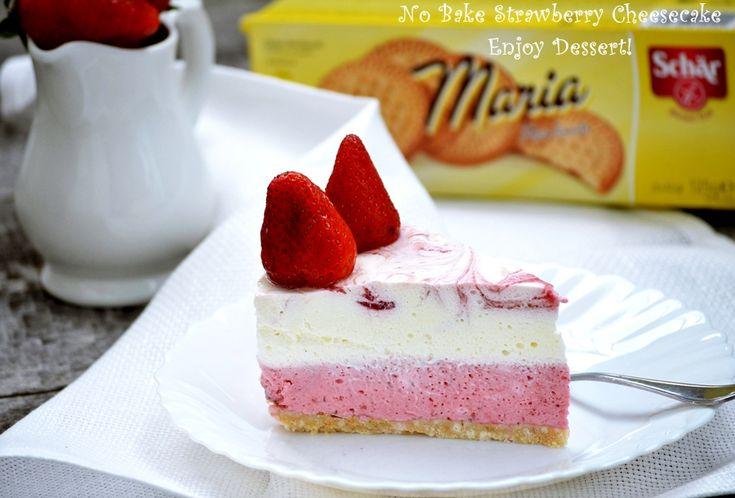 No Bake Strawberry Ginger Cheesecake