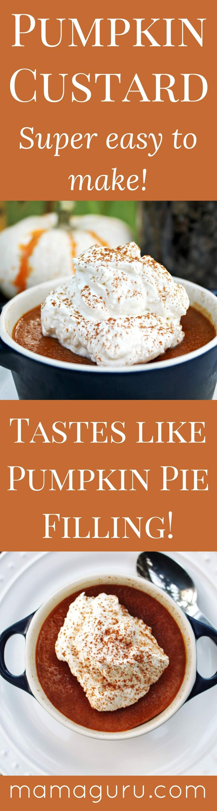 Pumpkin Custard • Thanksgiving Dessert