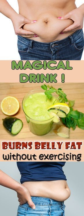 Burn belly fat without any exercise | Drink this before night to burn belly fat ...