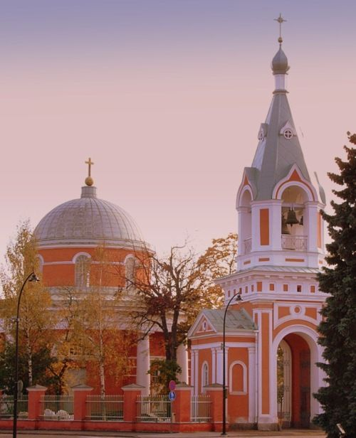 Orthodox Church of Saints Peter and Paul in Hamina, Finland  Designed by Louis Visconti, 1837