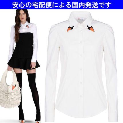 14秋☆スワンカラー コットンシャツHR380130☆RED VALENTINO