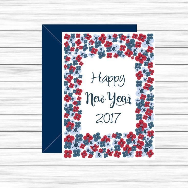 Carte nouvel an, Carte nouvelle année 2017, Carte de voeux imprimable, Carte meilleurs voeux, Joyeuse année, Carte de fêtes, Idée cadeau par MonRosePompon sur Etsy https://www.etsy.com/fr/listing/487994268/carte-nouvel-an-carte-nouvelle-annee