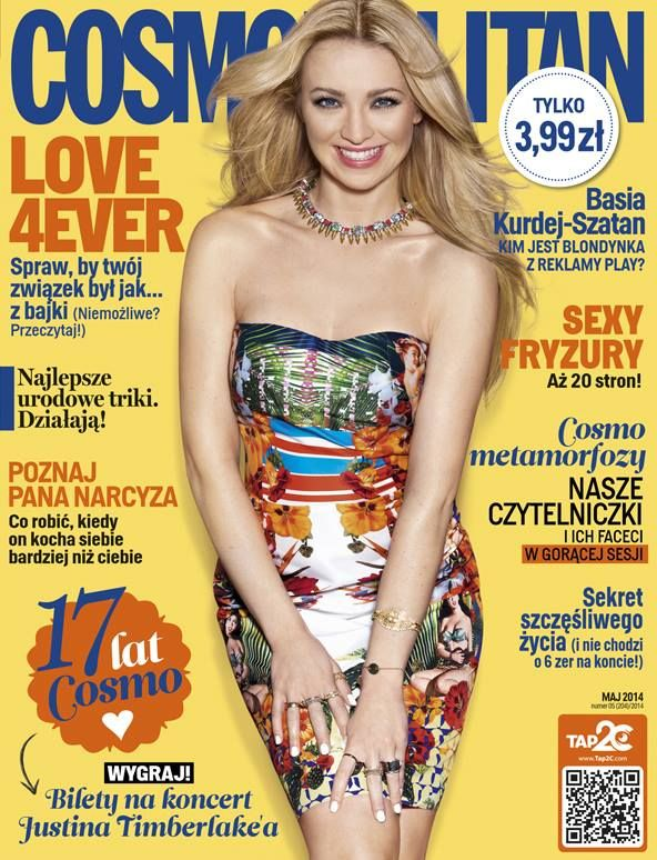 COSMOPOLITAN edycja polska / Barbara Kurdej-Szatan / maj 2014    www.cosmopolitan.pl
