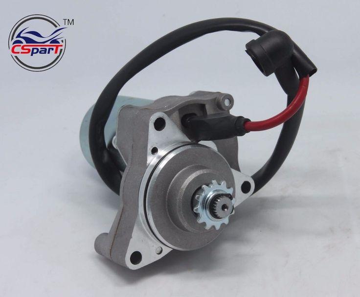 3 Bolt Upper Electric Starter Motor for 50cc 70cc 90cc 110cc 125cc Dirt Pit Bike Atv Quads Go Kart Buggy 4-Stroke Engine