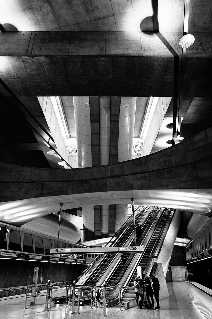 Kalvin Ter metro station. #budapest, #hungary, 2016. Click for an original, limited edition, signed, fine art print on Hahnemühle high quality paper. #fineart #print #deco #photography #monochrome #urban #city #architecture #urbex #exploration #travel #pierrepichot