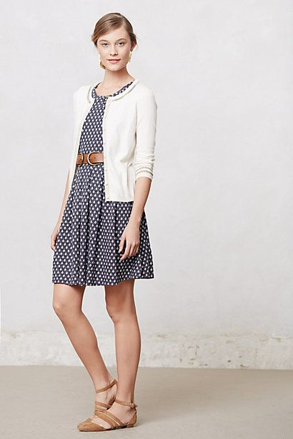 Anthropologie's casual femininity just strolling down the footpath.