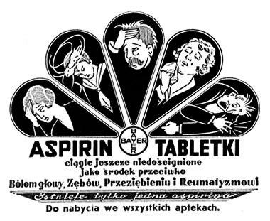 Aspiryna Bayer - reklama prasowa, 1930 rok