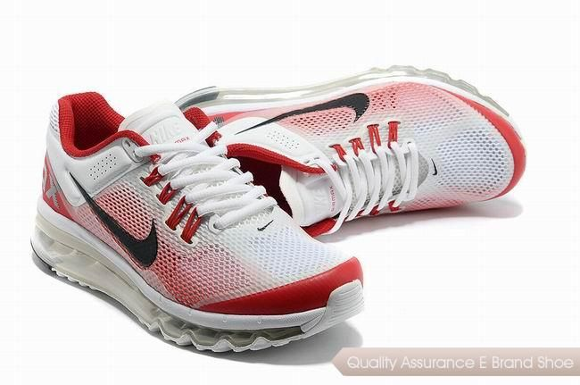 nike air max 2013 unisex white red gradual change sneakers p 2347