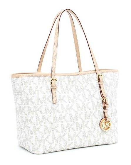 Michael Kors Jet Set Logo Travel Tote Vanilla Gifting In 2018 Pinterest Handbags Korichael Bag