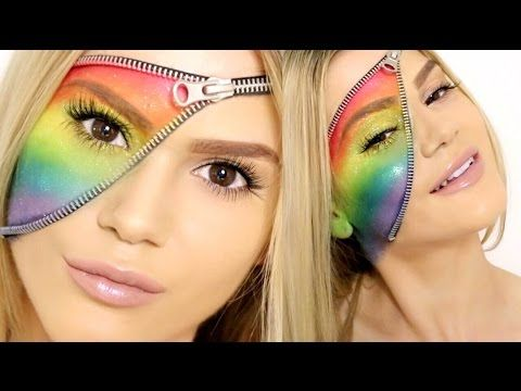PRIDE TRIBUTE | Unzipped Zipper Rainbow Makeup Tutorial - YouTube