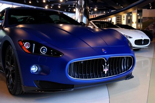 Maserati Gran Turismo S. Got to love that matte blue!