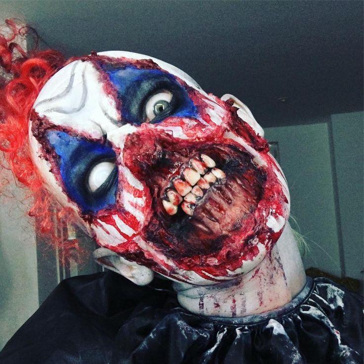 Killer Clown Face Paint Kit Evil Scary Jester Make Up Halloween ...
