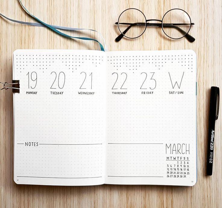 Minimalistisches Wochenbuch 🖋️ Ich hatte dies…