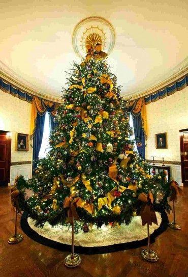 Albero di Natale dorato
