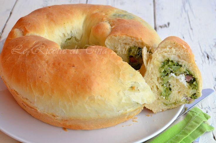 Pan brioche salato con broccoli